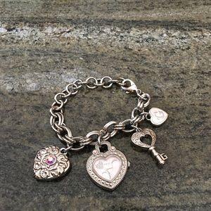 Guess charm bracelet watch